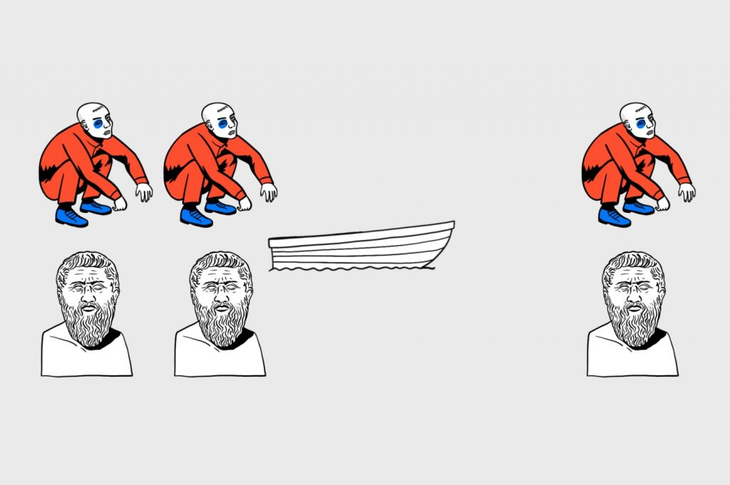 Алгоритмика в деле: назад отправляются философ игопник