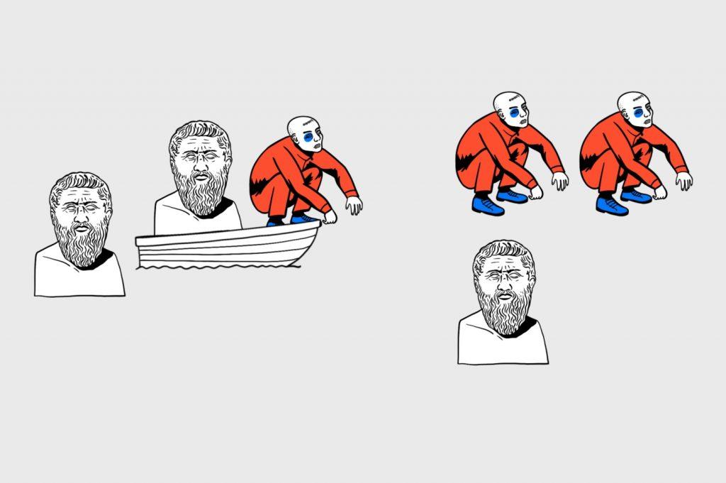 Алгоритмика в деле: назад отправим одного гопника, который позовёт в лодку философа