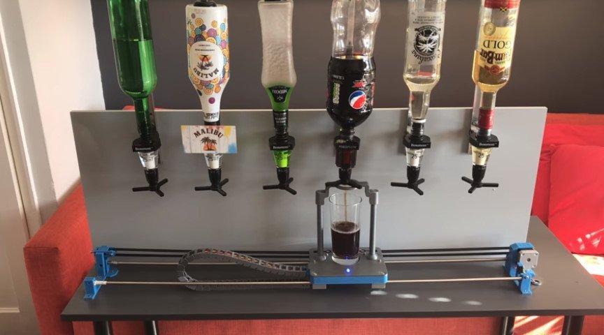 Робот-бармен с Bluetooth-управлением
