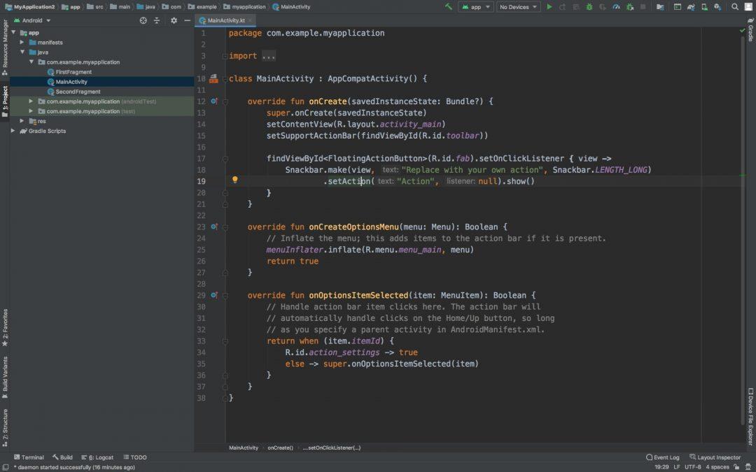 Стандартный режим Android Studio 4.0.1 — версия программы, актуальная на момент обзора