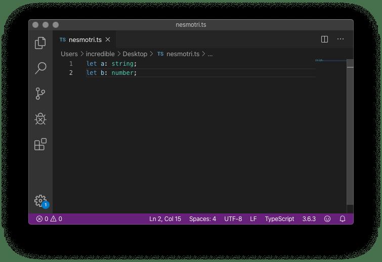 Вот как поиск ошибок работает в Visual Studio Code