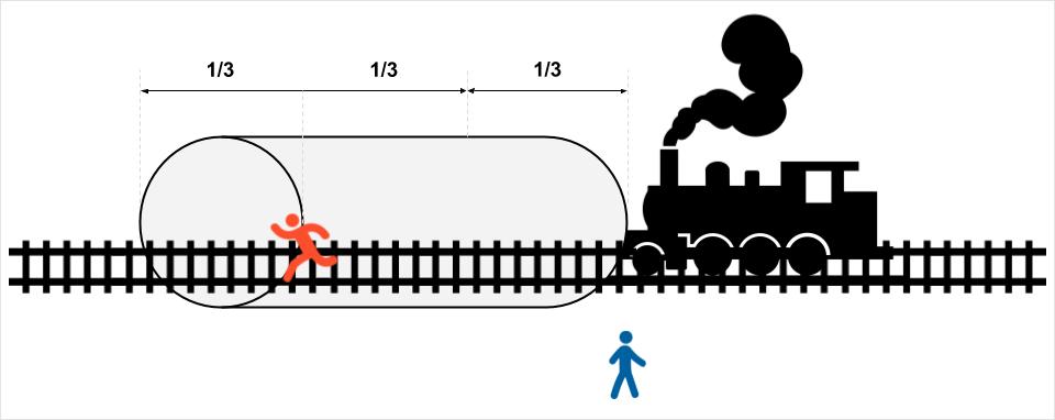 Момент, когда поезд въезжает в туннель: сложная задача на логику