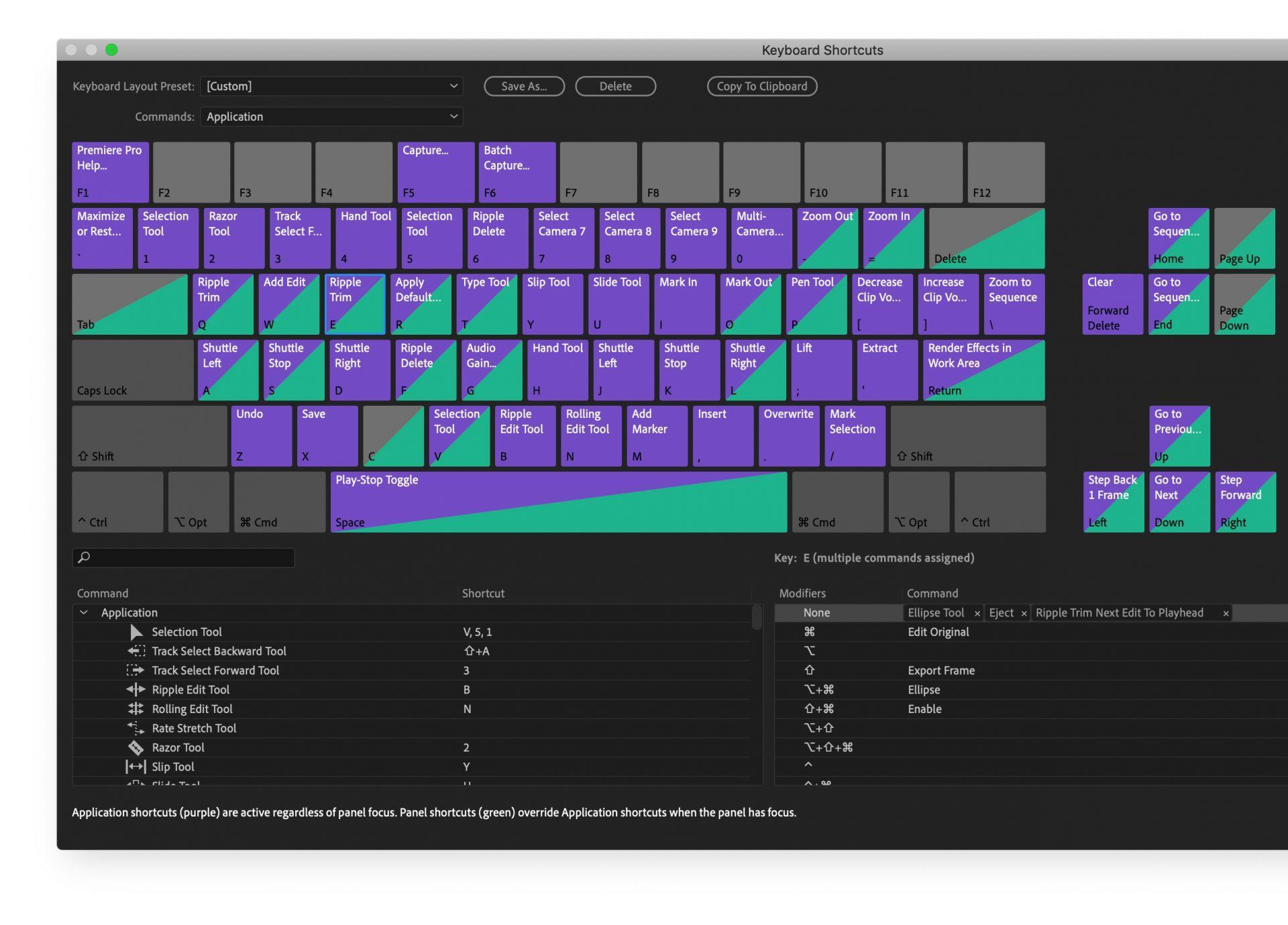 Почти все профессиональные программы позволяют настроить горячие клавиши по своему вкусу
