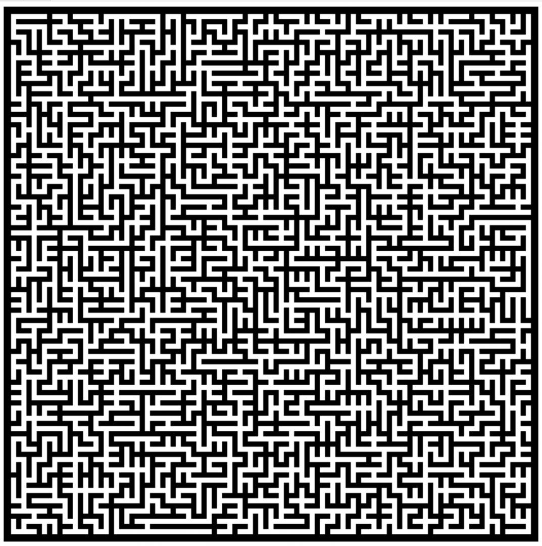 Попробуем сделать элегантную алгоритмическую игрушку — лабиринт