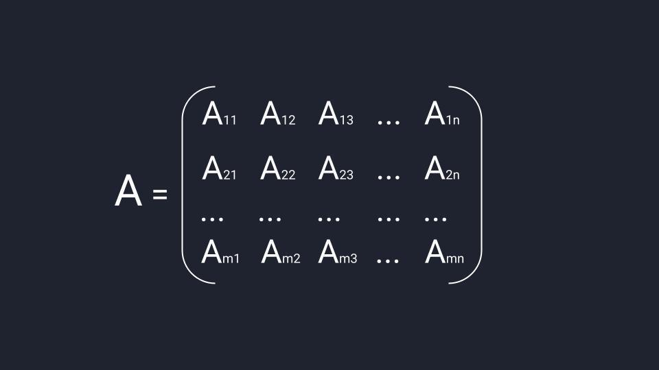 Общая схема матрицы