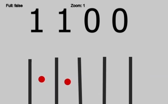 Двоичный калькулятор из бусин и палок